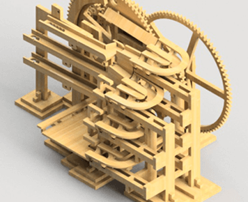 Marble-Machine-Clock