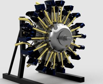 Olsryd-9-Cylinder-Radial-Engine