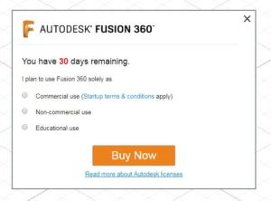 Fusion 360 aktivace zdarma krok 3