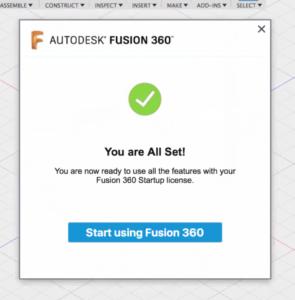 Fusion 360 aktivace zdarma krok 5