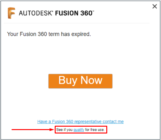 Fusion 360 your term has expired